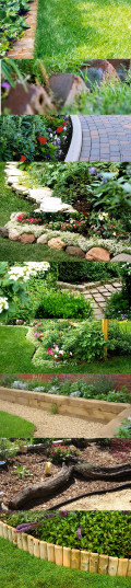 Garden Bed Borders, Edging Ideas for Vegetable and Flower Gardens