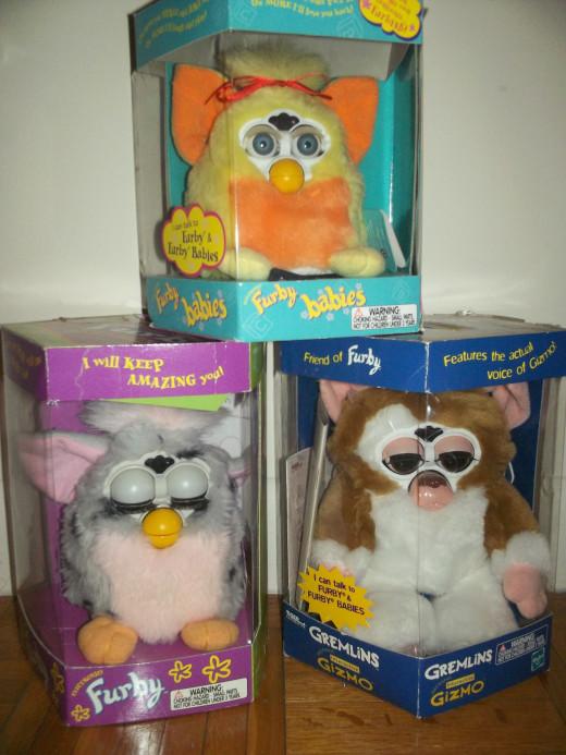 Some old school Furbies.