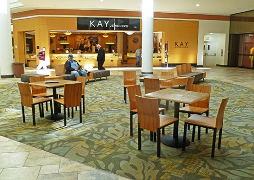 Typical furnished mall court