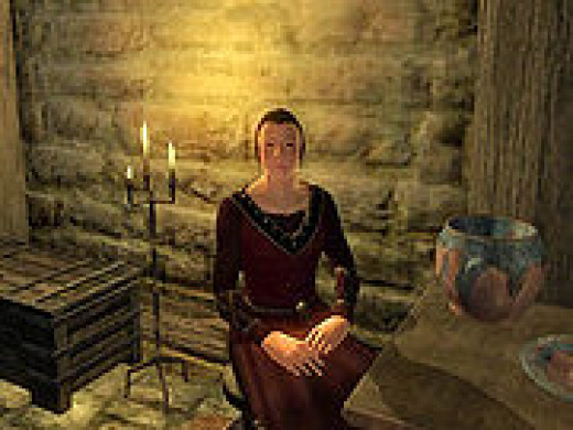 Eyja- Servant Housekeeper in Skingrad