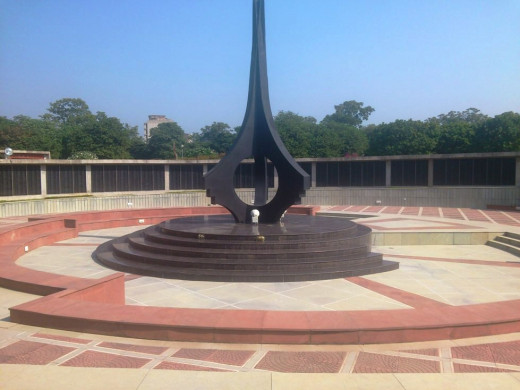 Chandigarh War Memorial perhaps the largest War Memorial of the country, with nearly 8459 names of the Deceased Soldiers since 1947 from Army Air Force and Navy stands located in the serene and beautiful Bougainvillea garden of Chandigarh.
