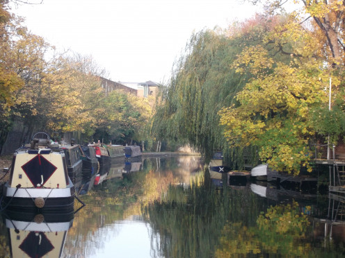 Houseboats on Regents Canal, London