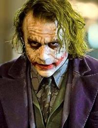 Heath Ledger's iconic Joker.