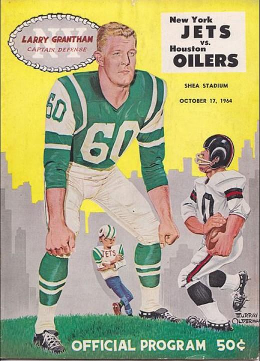 Game Program Jets vs. Oilers, 1964