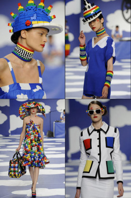 More trendy and stylish LEGO dresses. Hats too, are you kidding me? They're awesome, especially the brimmed one!