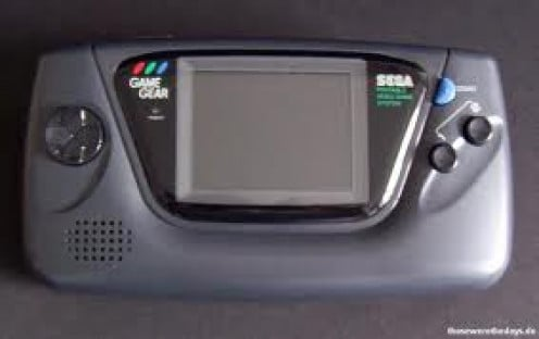The Sega Game Gear was a hand held video game console. It had 8 bit of graphics and it had 540 colors. It competed directly with the original Game Boy.