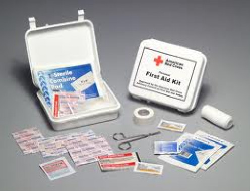 First Aid Kits should always be ready. Always keep them fully stocked with band-aids and antibiotic creme.
