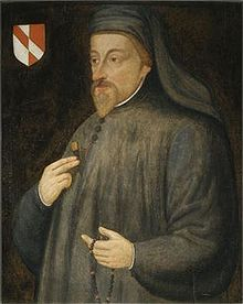 A portrait of Chaucer painted roughly 200 years after his death.
