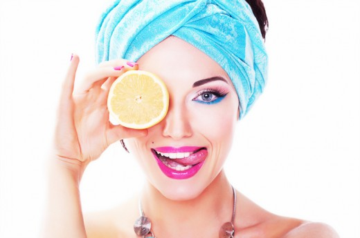 Lemon Juice is a Cheap and Natural Skin Care Product. - Do not share this photo anywhere, it was paid for and by sharing it you will be infringing on  copyright laws.