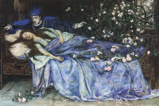 'Sleeping Beauty' by Henry Meynell Rheam. Public Domain Image.