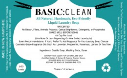"""If you're interested in buying my liquid laundry soap kit, which makes an amazing 10 gallons, please contact me on the BASIC""""Clean Facebook Page!"""
