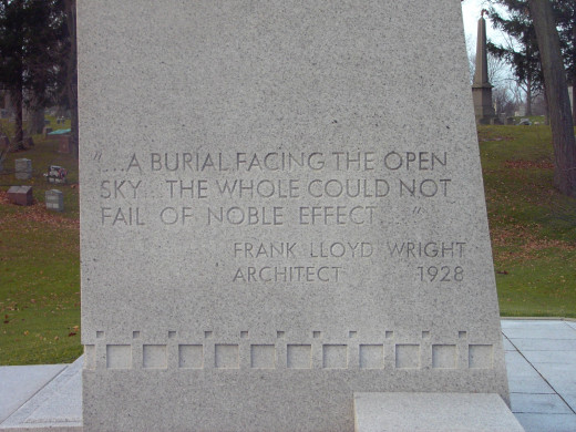 The inscription on the Blue-Sky Mausoleum.