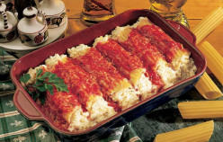Shrimp and Mushroom Stuffed Manicotti