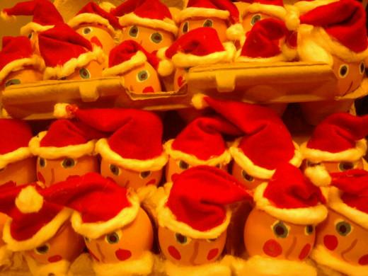An Army of Santa Eggs
