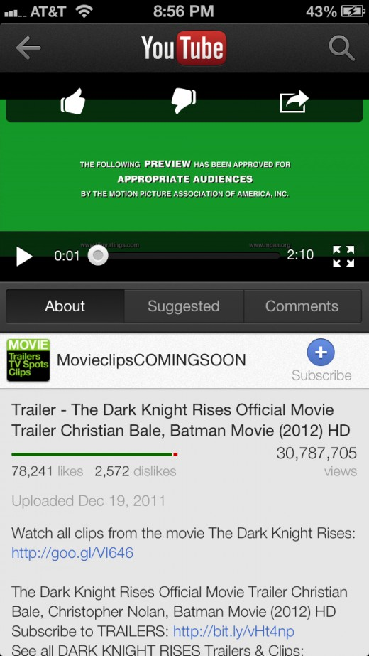 Tap the video to bring up onscreen controls.
