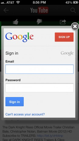 Sign in to your Google account if prompted.