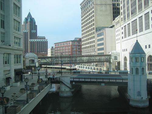 Downtown Milwaukee is home to the Shops of Grand Avenue, downtown's shopping mall.