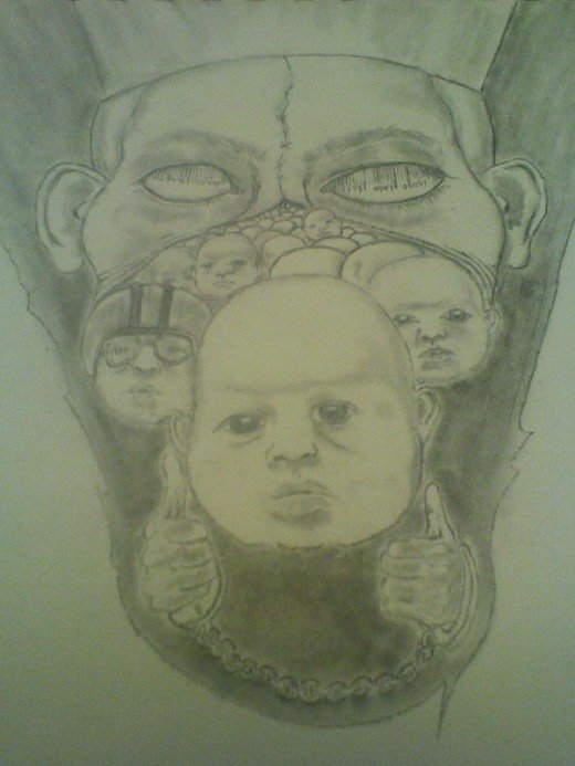 The Prussian System by Rod. B. Rainey graphite on paper