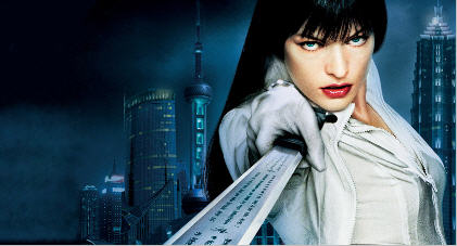 "Mila Jovovich - a pic from ""Ultra Violet"""