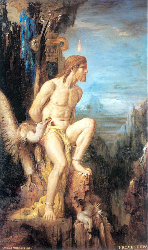 Prometheus by Gustave Moreau