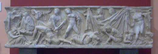 Scenes from the Oresteia (National Archaeological Museum of Spain)