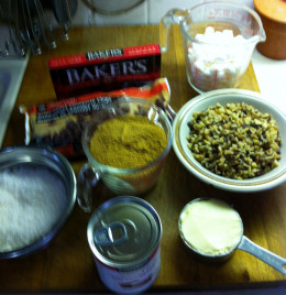 Ingredients for Rocky Road Bars