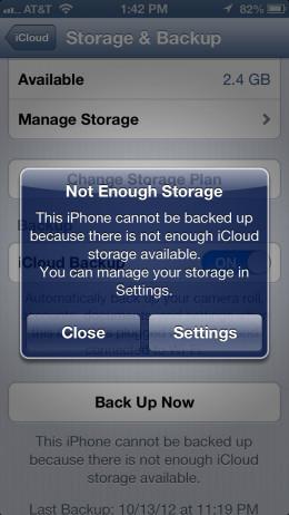 Screenshot from iPhone 5
