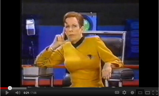Carol Burnett in a Star Trek parody from 1991 TV show-hilarious still!