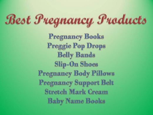 Helpful pregnancy products