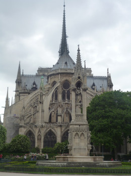 The famously gothic Notre Dame