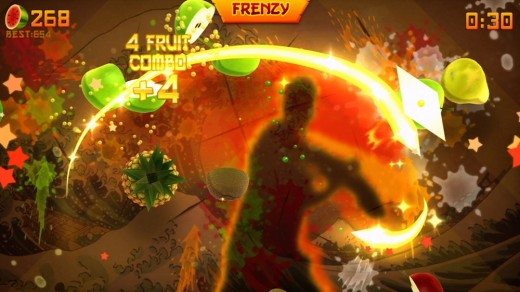 Fruit Ninja.  Kinect truly arrives on XBox live Arcade