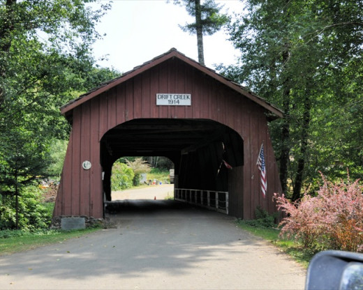 Covered bridge near Lincoln City, OR