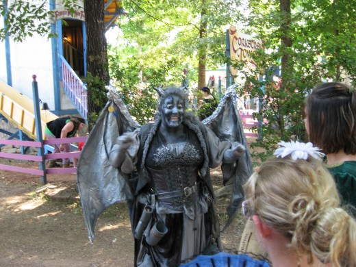 Face Painting and body painting are often seen at renaissance fairs.