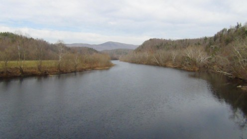 The James River flows through the mountains of the Parkway.