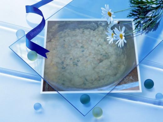 potato pie creamy mixture