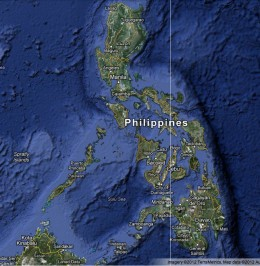 A map of the Philippines will show the earthquakes in relationship to the typhoon.