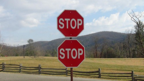 Apparently the Department of Transportation thought it important to stress the need to stop.