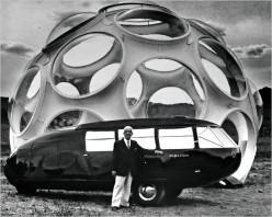 Buckminster Fuller and his Dymaxion Car