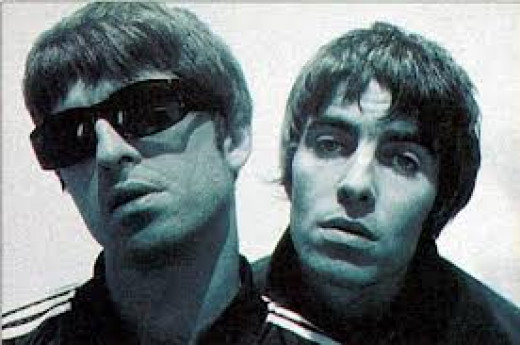 Noel (left) and Liam (right) Gallagher