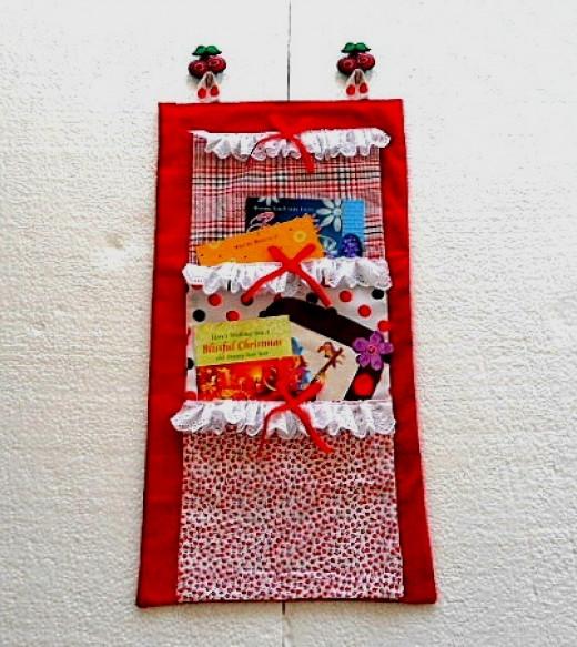 Christmas Card Wall Organizer