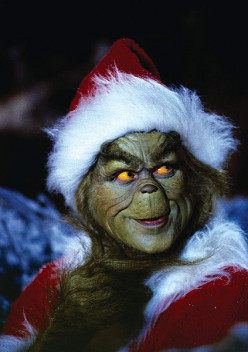 """The Grinch when listening to music """"It's joyful and triumphant"""" - brilliant!"""