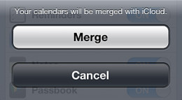 iPhone contact sync - Merge