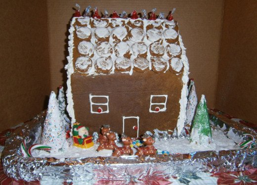 The Gingerbread House is now completed.