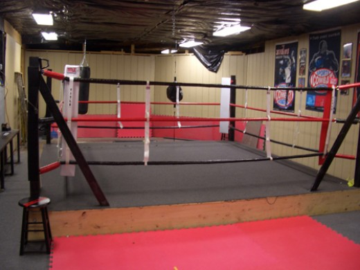 You just need a few tools to build a boxing ring and then you can spar and practice footwork. Always make sure your ring is in proper working condition.