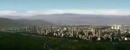 Artist rendition of the new city.