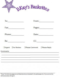 How To Make A Fax Cover Page