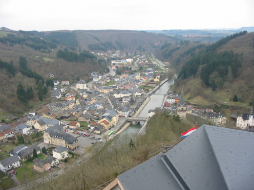 Vianden, view from the castle