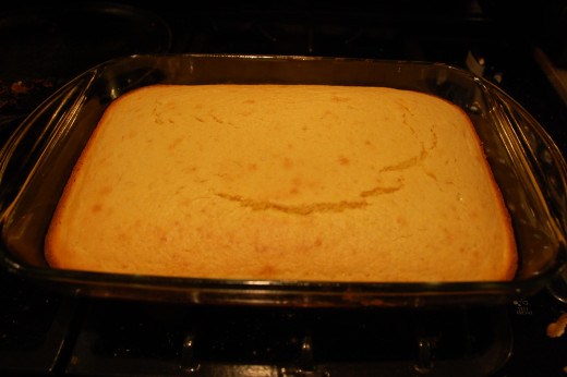 Cornbread finished, the smell is amazing!