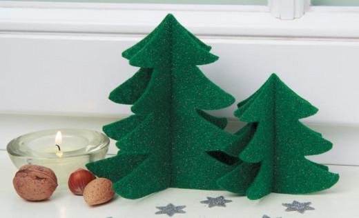 Felt Fur Christmas Tree