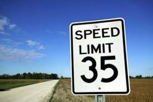 Always follow the speed limit when driving, to help prevent wrecks and also, to keep from having to pay a traffic ticket which can be costly.